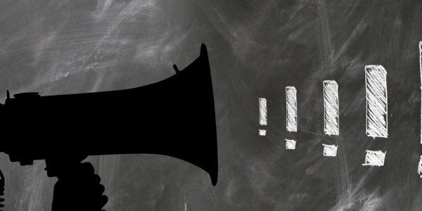 megaphone exclamation